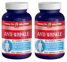 Anti wrinkle pills - ANTI WRINKLE NATURAL FORMULA - 2 Bottles, 120 Capsules