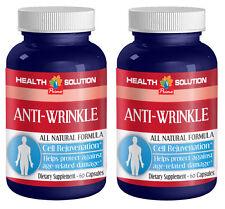 Vitamin A - ANTI WRINKLE NATURAL FORMULA - 2 Bottles, 120 Capsules