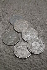 6 1945-50  French 5 Francs Aluminum Coins, Circulated