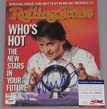 MICHAEL J FOX  Hand Signed Rolling Stone Magazine +PSA DNA COA *BUY GENUINE*