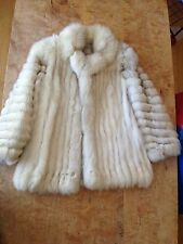 *****White Fox Fur short Coat  Elegant, classy, Beautiful!!!