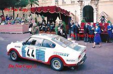 Miloslav zapadlo & Jiri motal Skoda 130 RS Monte Carlo Rally 1977 fotografía 1