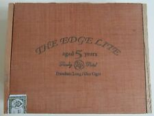 """Solid Wood Empty Cigar Box - Rocky Patel """"The Edge Lite"""" Aged 5 Years - NICE!"""