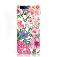 DYEFOR WHITE BRIGHT FLOWER PATTERN PINK FLORAL PHONE CASE COVER FOR ONEPLUS