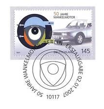 BRD 2007: Wankelmotor 50 Jahre! Nr. 2582 mit Berliner Ersttags-Sonderstempel! 1A