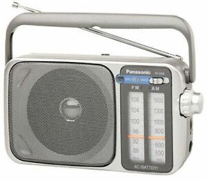 "Panasonic RF-2400D AM / FM Radio, Silver, New-(Box damaged) ""MAKE OFFER"""