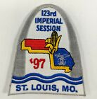 123rd Imperial Session 1997 St Louis Missouri MO Shriners Embroidered Patch