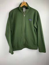 Patagonia Jacket Fleece Olive Green Full Zip  Mens Medium
