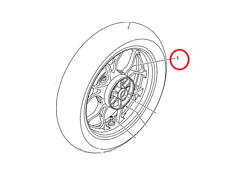 1WD-F5338-00-P0, Rear Wheel, Fits: 15-18 Yamaha R3, BRAND NEW!!! In Stock