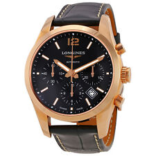 Longines Conquest Classic Black Dial Mens Chronograph Watch L27868563
