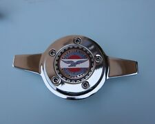 Lowrider hydraulics zenith style knock offs 2 bars chrome & metal emblem 4 pack