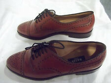 Mens Bally Scribe Brown Leather Oxford Dress Shoes UK 6 / US 7 Handmade FreeSHIP