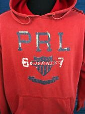 Vintage Polo Ralph Lauren Jeans Hoodie Sweatshirt Pullover Distressed Mens Large