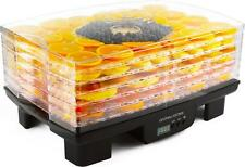 Andrew James Food Dehydrator - Digital Machine with 6 Trays - Timer - Low Energy