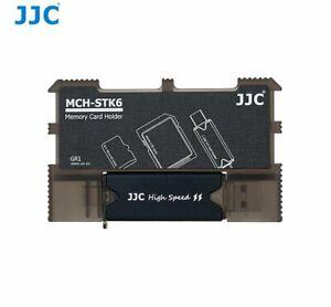 JJC MCH-STK6GR Speicherkartenhalter für SD-Karten MSD-Karten USB 3.0-Kartenleser
