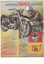 NORTON DOMINATOR 1952 POSTCARD