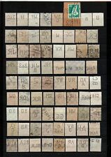 Germany Reich very nice lot of perfin stamps 71