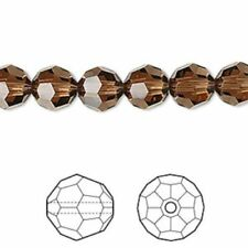 Cuentas cristal topacio para joyería artesanal