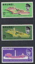 BRUNEI 1969 MINT Royal Hall & Council Chamber opening set sg172-174 MNH