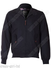 Mens Brave Soul Coat Casual Poly Ottoman Twill Bomber Retro Style Winter Jacket 40 Inch M Navy