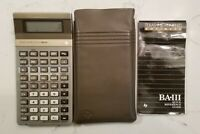 Texas Instrument BA-III Business Calculator w/ Case and Reference Guide