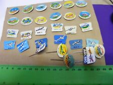 Lot 30 Airplane Badges(Gum or Cereal Premiums) from 1960s..Aircraft identify.