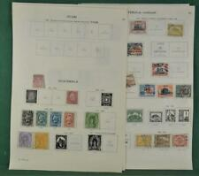 GUATEMALA STAMPS SELECTION ON 11 ALBUM PAGES  (K137)
