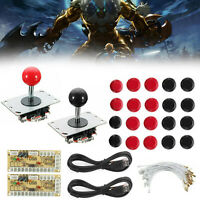 DIY Joystick Arcade Game USB Encoder+Joystick+ Buttons+Cables B2