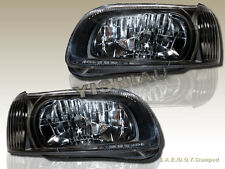 For 2000-2001 Nissan Maxima GXE SE GLE Black Housing Headlights New