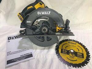 "Dewalt #DCS578 FLEXVOLT 60 Volt Max 7-1/4"" Circular Saw W/ Brake Tool Only (New)"