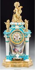 A French Sevres-Style Jeweled Porcelain And Gilt Bronze Clock, 19Th. Lot 65743