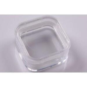 Clear Membrane Box 38mm X 38mm X 16mm Display Jewelry Stones Optics pack of 10