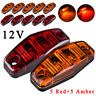 5*Red And 5*Amber 12V LED Side Marker 2.5inch Clearance Lamp Truck Trailer Light