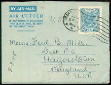 BURMA : Scarce 1948 Air Letter to USA.