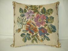 Floral Toile Tapestry Decorative Accent Throw Pillow Cover 14x14
