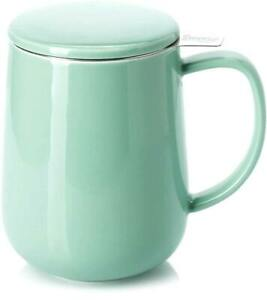 Tea Mug with Infuser and Lid Mint Green