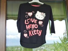 Shirt. Top. Dünnes Sweatshirt. Süß. LOVE HELLO KITTY. Gr. 128/134. OVP