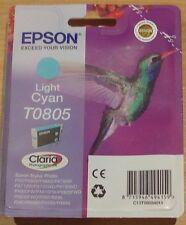 GENUINE EPSON T0805 TO805 Light Cyan Cartouche étanche Original Hummingbird encre