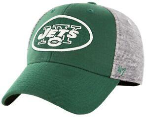 New York Jets NFL '47 Contender Verona Gray Hat Cap Flex Stretch Fit Men's OSFA