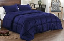 250GSM Down Alternative Solid/Stripe Reversible Comforter set All size & color