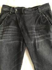 R13 X-Over Damen Jeans Gr.30*schwarz*used Look*