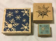 Snowflake Winter Christmas 3 Lot Set Rubber Stamp Craft Scrapbook Tool #D22