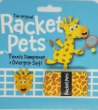 Brand New Racket Pets Tennis Dampener and Overgrip Set Giraffe