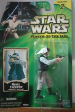 STAR WARS - Rebel Trooper - power to the jedi figure 2001 BOXED ans SEALED