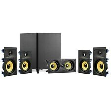"""TDX 5.1 Surround Sound Home Theater System, 6.5"""" In-Wall Speakers, 10"""" Subwoofer"""