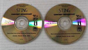 STING Universal Amphitheare 1999 Concert Broadcast PROMO LIVE 2xCD RADIO SHOW