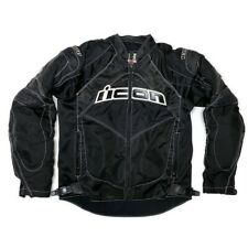 Small Icon Contra Armored Motorcycle Jacket With LINER And PADS Black