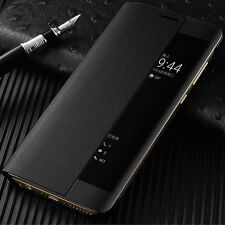 Luxury Smart View Leather Slim Flip Case Cover For Huawei P10 P20 Mate 9 10 Pro