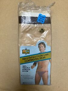 Vtg 60s/70s Mens Bikini Brief Nylon Underwear M