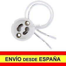 Casquillo Portalámparas GU10 Cerámico 230V LED Alta Calidad color Blanco a3388